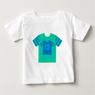 Blue green nested tee shirts