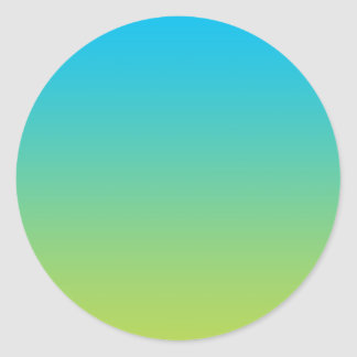 Blue & Green Ombre Classic Round Sticker