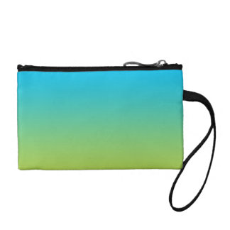 Blue & Green Ombre Coin Purse