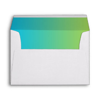 Blue & Green Ombre Envelope