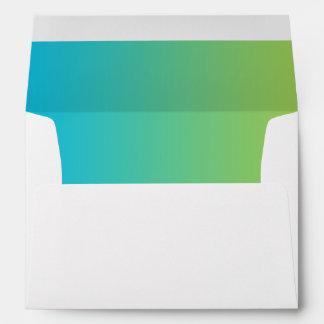Blue & Green Ombre Envelope