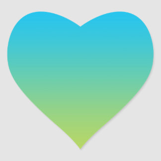 Blue & Green Ombre Heart Sticker