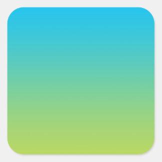 Blue & Green Ombre Square Sticker
