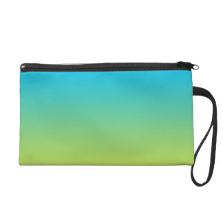Blue & Green Ombre Wristlet