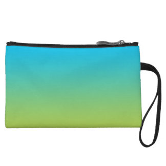Blue & Green Ombre Wristlet Wallet