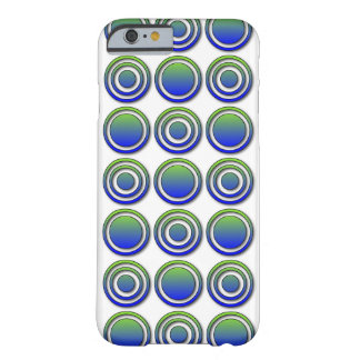 Blue Green Orbs and Rings Barely There iPhone 6 Case