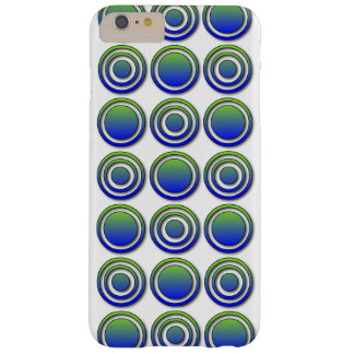 Blue Green Orbs and Rings Barely There iPhone 6 Plus Case
