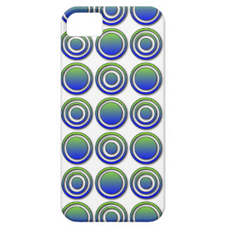 Blue Green Orbs and Rings iphone 5 case