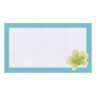 Blue & Green Orchid Wedding Placecards Double-Sided Standard Business Cards (Pack Of 100)