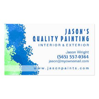Blue & Green Painter Business Card