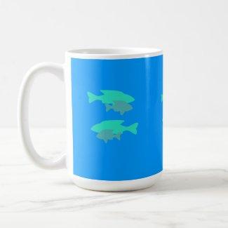 Blue-green Pairs of Fish Mug mug