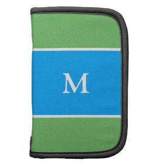 Blue Green Pattern Sleeves Folio Planner