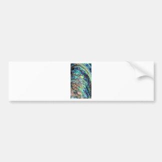 Blue green paua abalone shell detail bumper sticker
