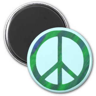 Blue Green Peace Sign Magnets