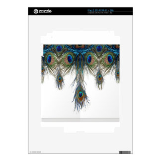 blue-green-peacock-feathers-art- skin for the iPad 2