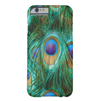 Blue Green Peacock Feathers Barely There iPhone 6 Case