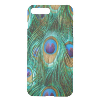 Blue Green Peacock Feathers iPhone 8 Plus/7 Plus Case