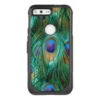 Blue Green Peacock Feathers OtterBox Commuter Google Pixel Case