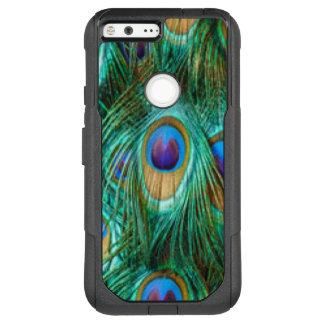 Blue Green Peacock Feathers OtterBox Commuter Google Pixel XL Case
