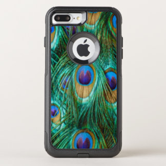 Blue Green Peacock Feathers OtterBox Commuter iPhone 8 Plus/7 Plus Case