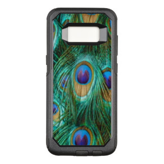 Blue Green Peacock Feathers OtterBox Commuter Samsung Galaxy S8 Case
