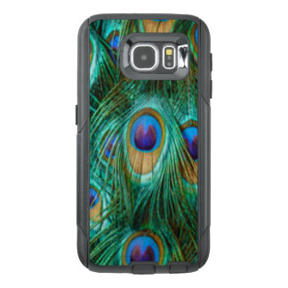Blue Green Peacock Feathers OtterBox Samsung Galaxy S6 Case