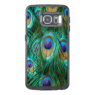 Blue Green Peacock Feathers OtterBox Samsung Galaxy S6 Edge Case