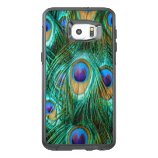 Blue Green Peacock Feathers OtterBox Samsung Galaxy S6 Edge Plus Case