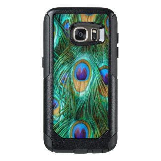 Blue Green Peacock Feathers OtterBox Samsung Galaxy S7 Case