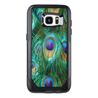 Blue Green Peacock Feathers OtterBox Samsung Galaxy S7 Edge Case