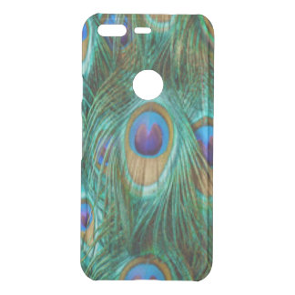 Blue Green Peacock Feathers Uncommon Google Pixel Case