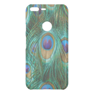 Blue Green Peacock Feathers Uncommon Google Pixel XL Case