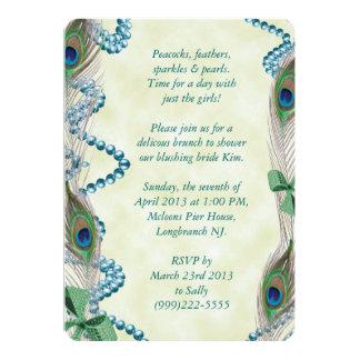 Blue/Green Peacock Invitation
