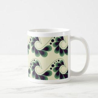 Blue-green Peacock Wave Mug