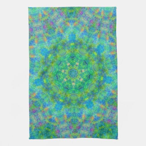 Blue Green Persian Rug Design Kitchen Towel