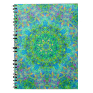 Blue Green Persian Rug Design Notebook