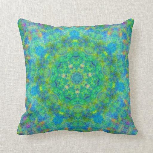 Persian Design Throw Pillows : Blue Green Persian Rug Design Pillow Zazzle