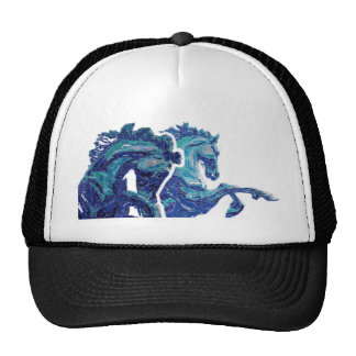 Blue Green Piccadilly Circus London Horse Statue Hat