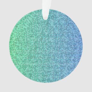 Blue green pixel design