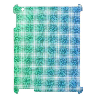 Blue green pixel design cover for the iPad 2 3 4