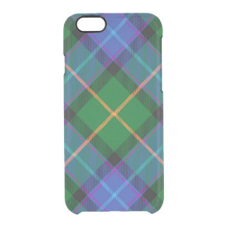 Blue Green Plaid iPhone 6/6S Clear Case