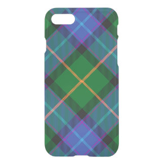 Blue Green Plaid iPhone 7 Clear Case