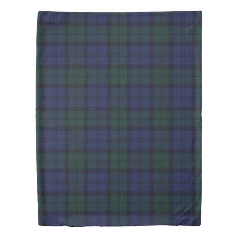 Blue Green Plaid Tartan Duvet Cover