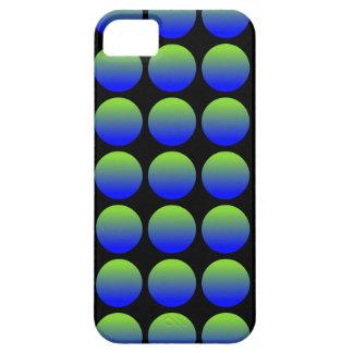 Blue Green Polka Dots 3 iphone 5 case
