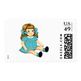 Blue Green Postage Stamp