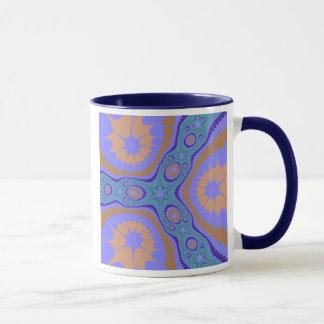 Blue Green Purple Fractal Mug