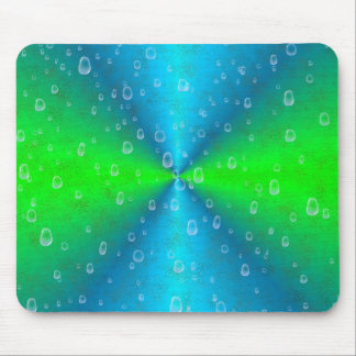 Blue green Rainbow in Elephant Skin Leather Optic Mouse Pad