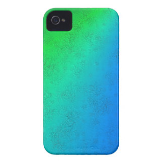 Blue green rainbow in Elephant Skin leather optics Case-Mate iPhone 4 Case