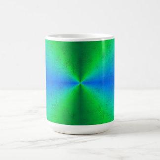 Blue green rainbow in Elephant Skin leather optics Classic White Coffee Mug