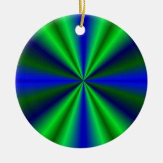 blue green rainbow ornament